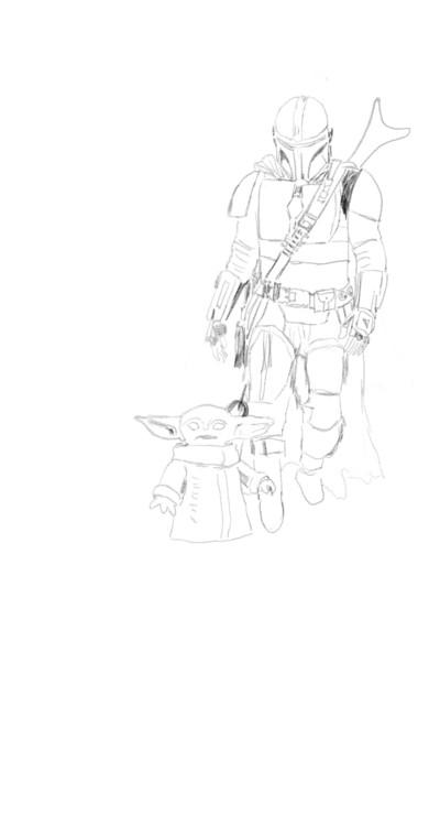 Mandolorian and his little friend | sherlock | Digital Drawing | PENUP