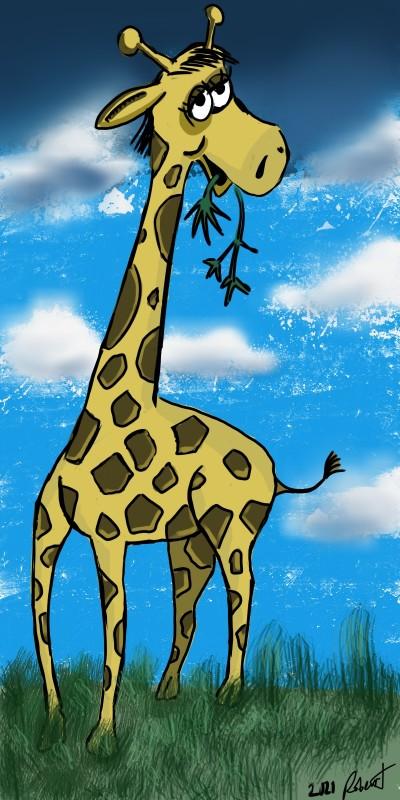 Mama Giraffe | Lineman | Digital Drawing | PENUP