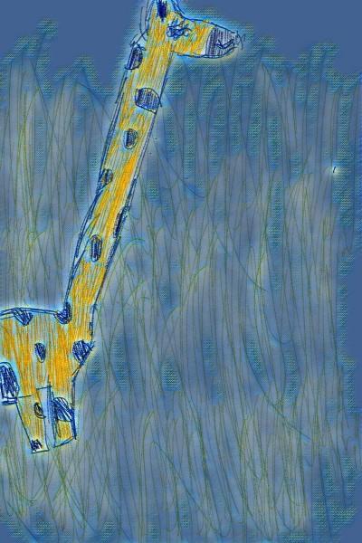 Night Time Giraffe   Acacia   Digital Drawing   PENUP