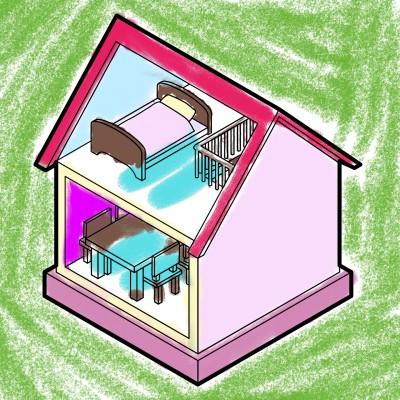 잔디에 있는 예쁜 집 | bunny | Digital Drawing | PENUP