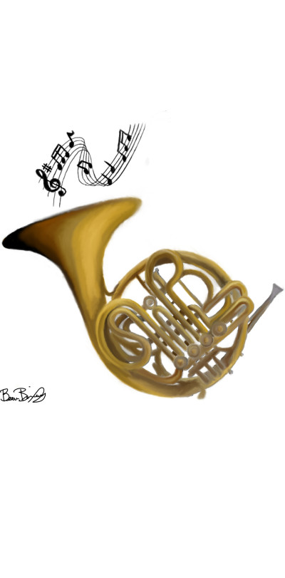 French Horn | Beau-lish | Digital Drawing | PENUP