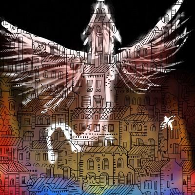Fire in the City | Dragon_Halfling | Digital Drawing | PENUP