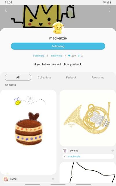 please follow my friend, she is very nice♡ | Coffee_artz | Digital Drawing | PENUP