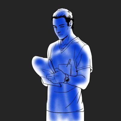 파랑 | Erinia | Digital Drawing | PENUP