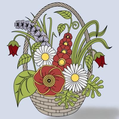 a flower basket | yujin1014 | Digital Drawing | PENUP