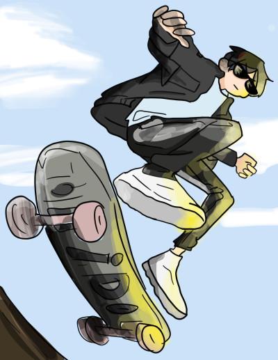 Ido skate boarding  | mizumafu | Digital Drawing | PENUP