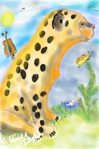 Gepard and Butterfly  | Rhyneptun | Digital Drawing | PENUP