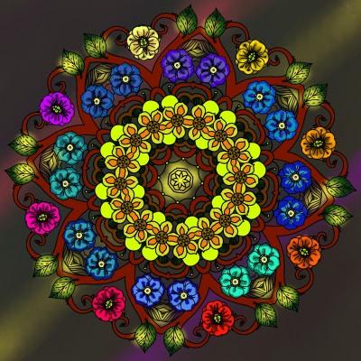 Flower Mandella | missdarrian | Digital Drawing | PENUP