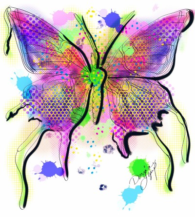 Stylized Butterfly | missdarrian | Digital Drawing | PENUP