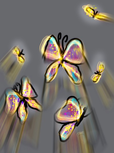 Glow Butterflies | missdarrian | Digital Drawing | PENUP