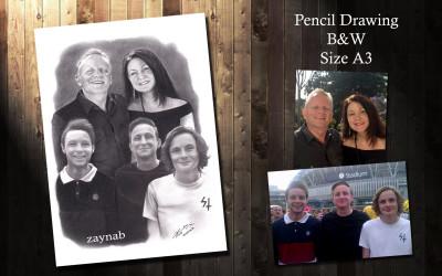pencil drawing in B&W on size A4  | Zaynab | Digital Drawing | PENUP