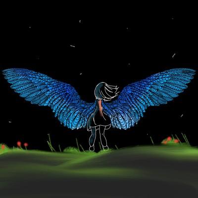 Night angel  | Crazycat9 | Digital Drawing | PENUP