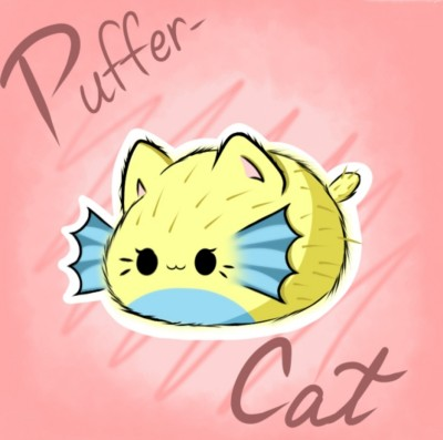 Puffer-Cat! | Cat_who_draws | Digital Drawing | PENUP