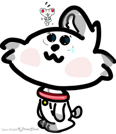 One ear cat T~T | instadraw | Digital Drawing | PENUP