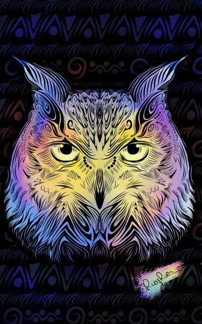 Owl Pattern  | Robyn | Digital Drawing | PENUP