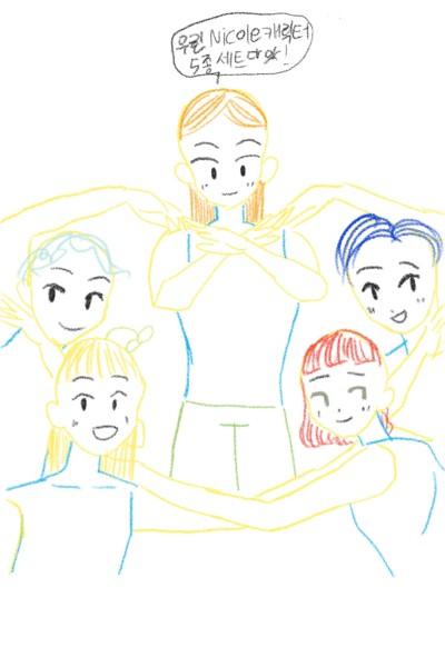 우린 Nicole 캐릭터 5종 세트다앗! | Nicole | Digital Drawing | PENUP