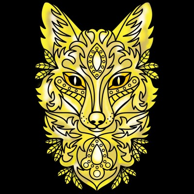 Golden Wolf  | Sylvia | Digital Drawing | PENUP