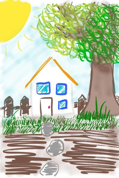 my home | skycastle | Digital Drawing | PENUP