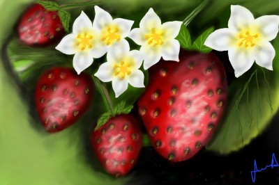 strawberries! | JennD | Digital Drawing | PENUP