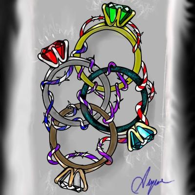 DIAMONDS | Ayca | Digital Drawing | PENUP