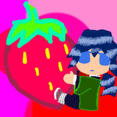 tomioka giyu and his strawberry  | hanako_chan | Digital Drawing | PENUP