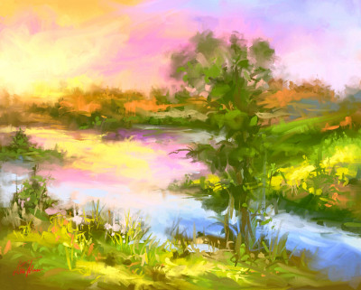 ~ Summer evening ~  Digital oil painting | Mishelangello | Digital Drawing | PENUP