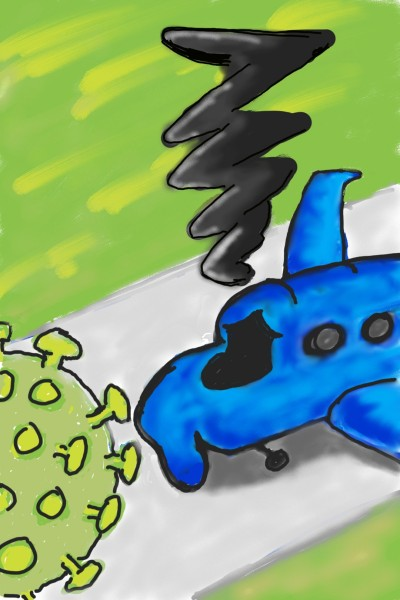 A grounded plane | Enzing | Digital Drawing | PENUP