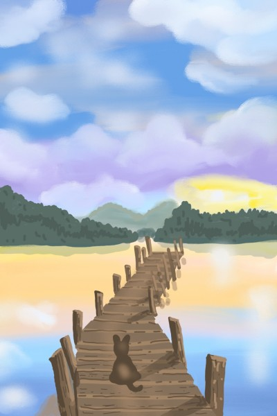 Wooden Bridge  | Sylvia | Digital Drawing | PENUP