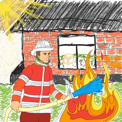 Danger! Fire! | tron | Digital Drawing | PENUP