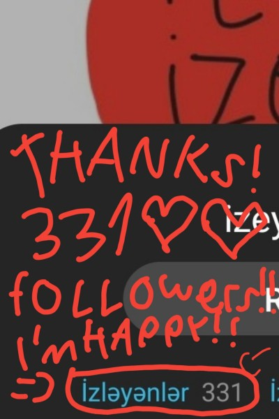 Thanks! 331 followers!!! I'm happy!!! ♡♡♡♡ :) | Izeyneb341_Love | Digital Drawing | PENUP