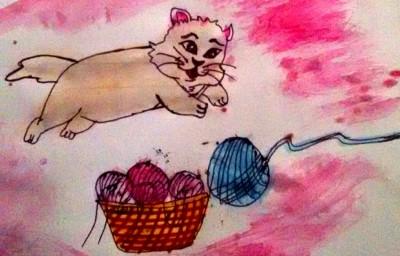 cat playing with wool | shreya | Digital Drawing | PENUP
