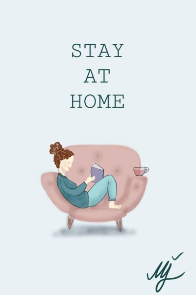 STAY AT HOME ♡ (covid19) | mjalkan | Digital Drawing | PENUP