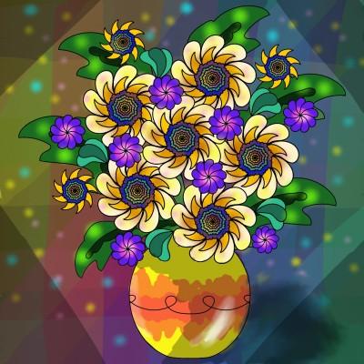 Yellow Alien Flowers | missdarrian | Digital Drawing | PENUP
