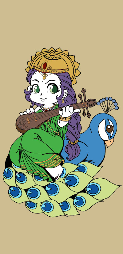Let's draw Instruments - Goddess Saraswathi | Syed_Deen | Digital Drawing | PENUP