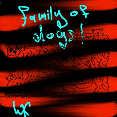 family of dogs! | WiD_9987 | Digital Drawing | PENUP