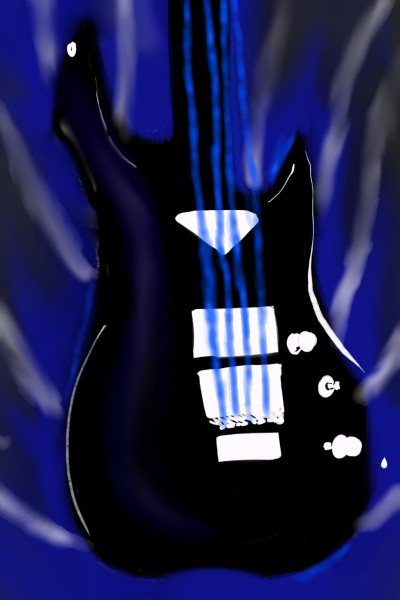 Blue Electric Guitar 2020 | Dragon_Halfling | Digital Drawing | PENUP
