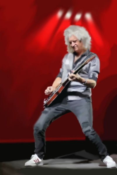 Brian May of queen with red special | KrisKim | Digital Drawing | PENUP