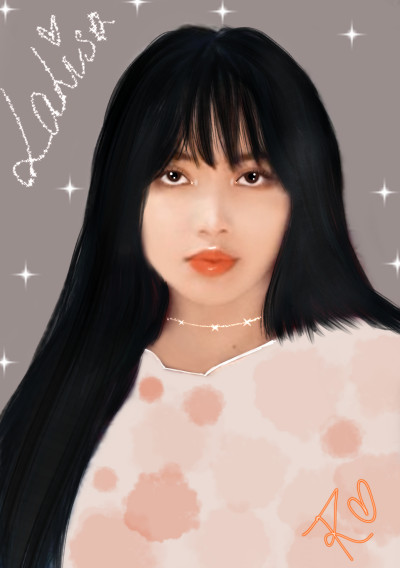 LISA BLACKPINK KPOP IDOL  DRAWING♡♡♡♡♡   RINI   Digital Drawing   PENUP