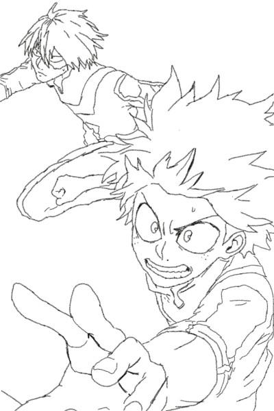 my hero Academy Deku and Todoroki | Paysleic123 | Digital Drawing | PENUP