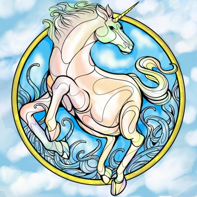 Unicorn galloping from.the sky | Sylvia | Digital Drawing | PENUP