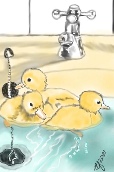 Bath Time | TeeTee | Digital Drawing | PENUP