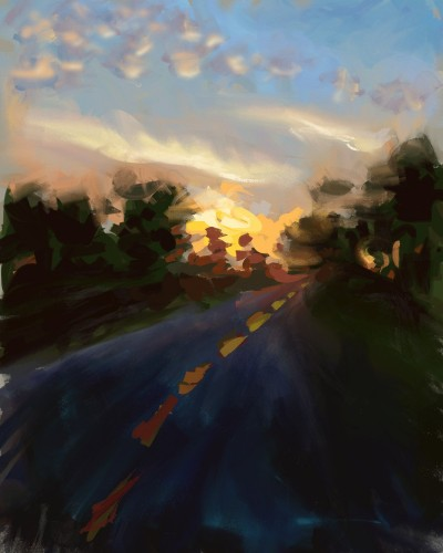 Apalachicola road sunset   zak   Digital Drawing   PENUP