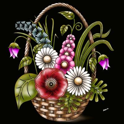 Flowers  | Monica.Baumann | Digital Drawing | PENUP