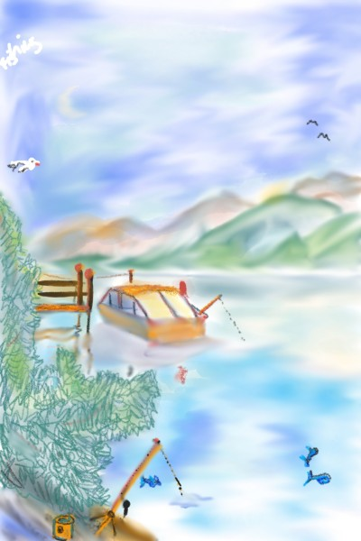 Fishing Silsersee | Rhyneptun | Digital Drawing | PENUP