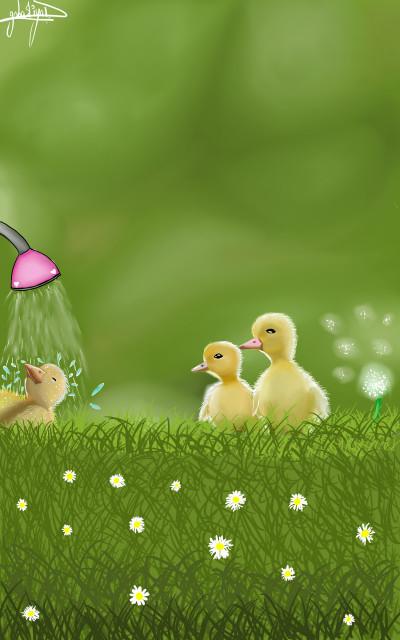 cute ducklings(^・^)♡ | honey10 | Digital Drawing | PENUP