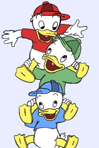 Huey, Dewey, and Louie   PrincessMikeyB   Digital Drawing   PENUP