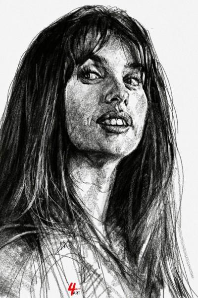 ☆YouTube [Daily Drawing] Penelope Cruz   4ocketart   Digital Drawing   PENUP