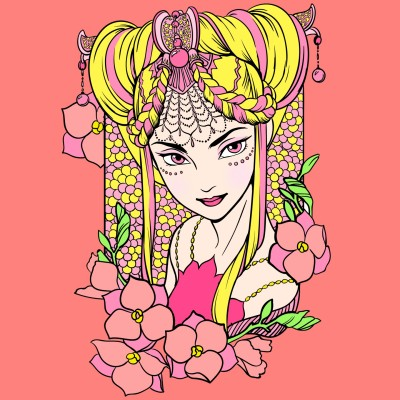 FLOWER GIRL | NJNJ | Digital Drawing | PENUP
