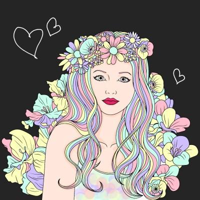 Pastel girl | LittleMermade | Digital Drawing | PENUP