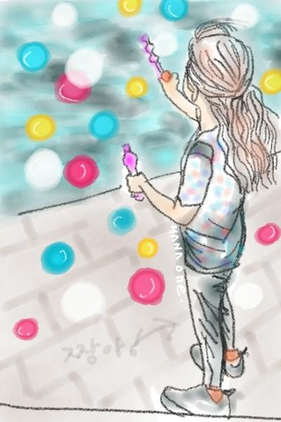 비누방울놀이 | ONE | Digital Drawing | PENUP